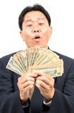Biznesmen z pieniądze Obrazy Stock