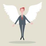 Biznesmen z skrzydłami Obraz Stock