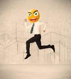 Biznesmen z smiley twarzą Obrazy Stock