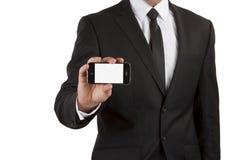 Biznesmen z telefon komórkowy Zdjęcie Stock