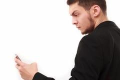 Biznesmen Z Telefonem Obraz Stock