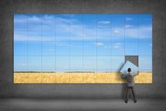 Biznesmen zbiera wizerunek Fotografia Stock