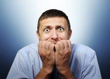 biznesmen zgłębia strach Obraz Stock