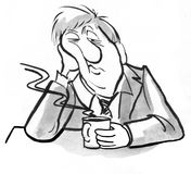 biznesmen zmęczony ilustracja wektor