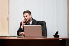 biznesmena biura target1143_0_ telefon zdjęcie stock
