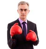 Biznesmena boks Zdjęcie Stock