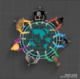 Biznesmena brainstorm globalny handel Fotografia Stock