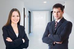 biznesmena businesswomani korytarz obrazy royalty free