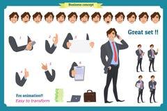 Biznesmena charakter ludzie biznesu garnitur royalty ilustracja