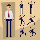 Biznesmena charakter - set Wektorowy projekt w różnorodnym stylu ilustracji