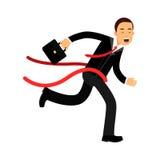 Biznesmena charakteru mety skrzyżowanie, biznesowy wyzwanie i sukces ilustracja, ilustracji