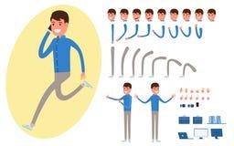 Biznesmena charakteru tworzenie ustawiający dla animaci ilustracji