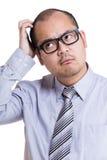 Biznesmena chrobota głowa Zdjęcia Stock