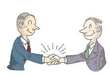Biznesmena chwiania ręki - kreskowy rysunek ilustracji