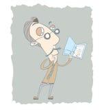Biznesmena czytania raport Zdjęcia Royalty Free