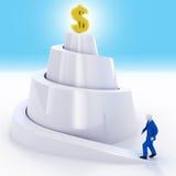 biznesmena dochodu postęp Zdjęcia Royalty Free