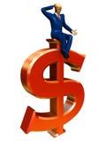 biznesmena dolar Zdjęcia Stock