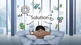 Biznesmena dopatrywania biznesowy brainstorm pojawiać się royalty ilustracja