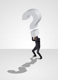 Biznesmena działanie niesie problem biznes Obraz Stock