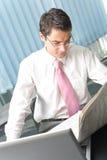 biznesmena gazety czytanie Obraz Stock