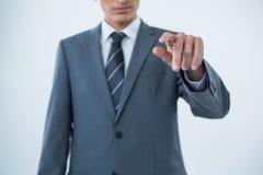 biznesmena gesta ręki robienie Zdjęcia Royalty Free