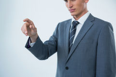 biznesmena gesta ręki robienie Obraz Stock