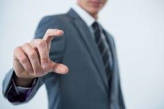 biznesmena gesta ręki robienie Fotografia Stock