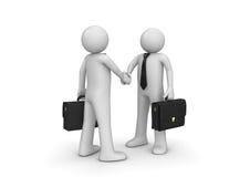 biznesmena handshaking dwa ilustracji
