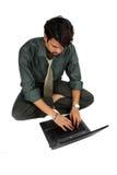 biznesmena hindusa laptop fotografia stock