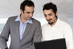 biznesmena hindusa laptop Obraz Stock