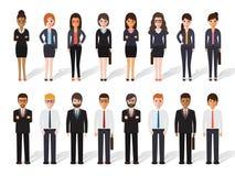 Biznesmena i bizneswomanu ludzie royalty ilustracja
