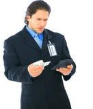 biznesmena kalkulatora zmieszany mienia pieniądze Obraz Royalty Free