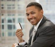 biznesmena karty kredyt fotografia stock