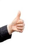Biznesmena kciuk obraz royalty free