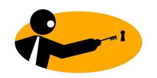biznesmena klucz ilustracja wektor