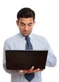 biznesmena komputeru laptop obrazy royalty free