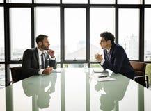Biznesmena Komunikacja Firma spotkania pojęcie obraz royalty free