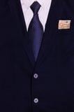 Biznesmena kostium z pieniądze w kieszeni Obraz Royalty Free