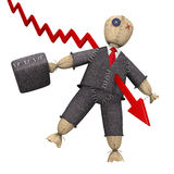 biznesmena koszmar s Zdjęcie Stock