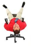 biznesmena krzesła czerwieni koszula Obraz Royalty Free