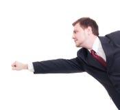 Biznesmena, księgowego lub pieniężnego kierownika latający pojęcie, zdjęcie stock