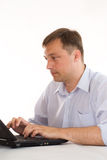 biznesmena laptop obraz royalty free