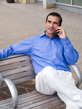 Biznesmena latynoski phonecall fotografia stock