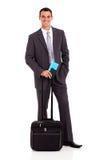 Biznesmena lotniczy bilet Obrazy Royalty Free