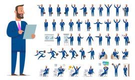 Biznesmena lub kierownika charakteru tworzenia duży set Różny rywalizuje Zdjęcia Royalty Free