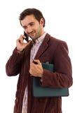 Biznesmena mówienie na telefonie komórkowym Fotografia Royalty Free