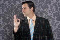 biznesmena mężczyzna głupka ok pozytyw retro obrazy royalty free