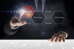 Biznesmena macania ekran obraz royalty free