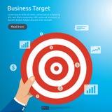 biznesmena mienia dartboard centrum cel strategii osiągnięcie i sukcesu płaski projekt Łuczniczy strzałka cel, strzała i Biznes ilustracji