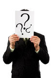 biznesmena mienia oceny pytanie Fotografia Stock